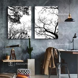 """Модульная картина  """"Крона деревьев"""""""