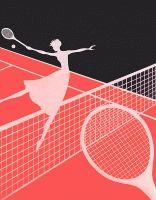 Балерина играет в теннис