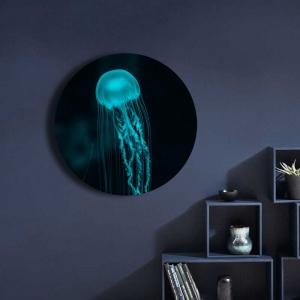 "Круглая картина ""Неоновая медуза"""