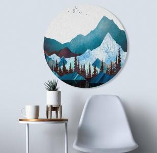 """Круглая картина """"Голубые горы"""""""