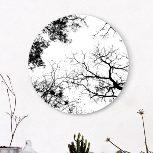 "Круглая картина "" Ветви"""
