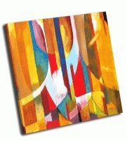 Абстрактная живопись в желтом