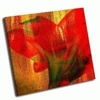 Абстрактный красный цветок