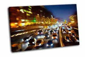 Автомобилное движение ночью
