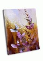 Бабочки-цветы в золотом