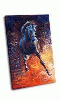 Бег синей лошади