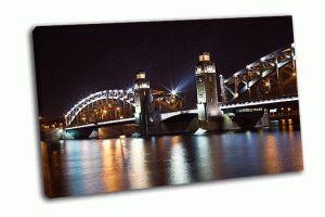Большеохтинский ночной мост