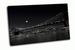 Бруклинский и Манхэттенский мост в Нью-Йорке