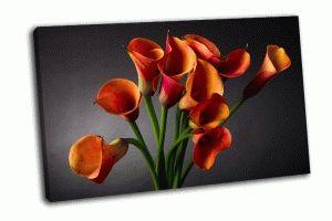 Букет из оранжевых лилий