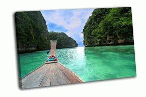 Деревянный длинный хвост лодки, Тайланд