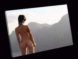 Девушка и виды гор