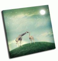 Два жирафа мама и ребенок