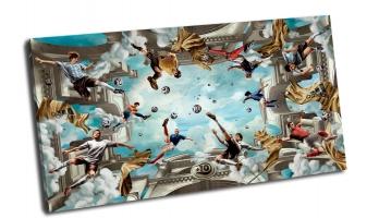 Футбол на Олимпе, в облаках