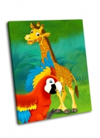 Жираф и попугай