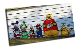 Граффити - злые герои мультиков