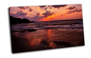 Карибское море, пляж, закат
