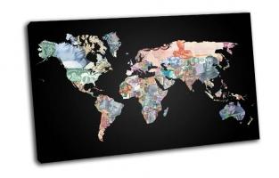 Карта мира, Континенты, Валюта, Страны