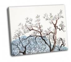 Китайская живопись, цветут сливы
