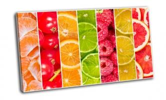 Коллаж из свежих летних фруктов