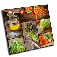 Коллаж из свежих овощей