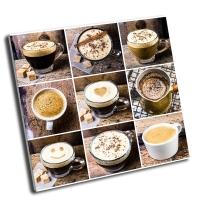 Коллаж-кофе эспрессо, капучино