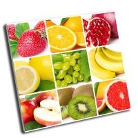 Коллаж-коллекция свежих фруктов