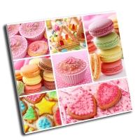 Коллаж красочные торты