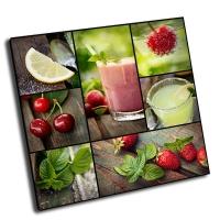 Коллаж-летние фрукты, напитки
