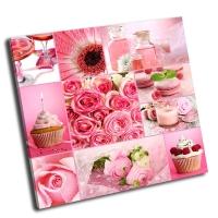 Коллаж в розовых тонах