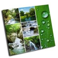 Коллаж-водопад и река