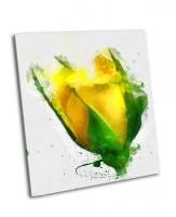 Красивая желтая роза