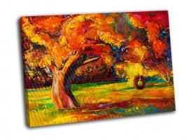 Красивое осеннее дерево