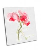 Красивый цветок акварелью