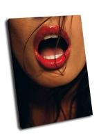Красные женские губы