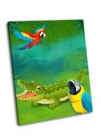 Крокодил и попугай