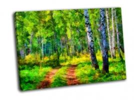 Летний пейзаж в лесу