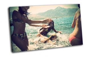 лето, море, брызги, веселье