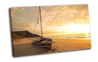 Лодка, море, пляж