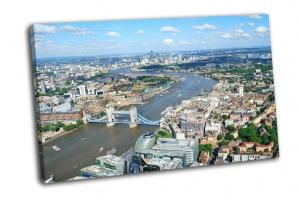 Лондон и река Темза сверху