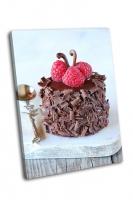 Маленький шоколадный торт