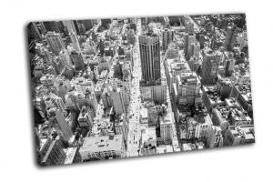 Манхэттен в черно-белом цвете