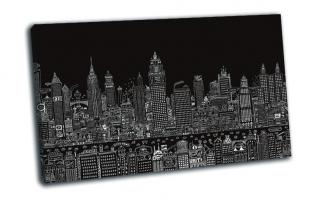 Мегаполис на черном фоне