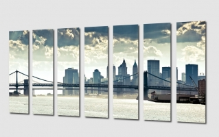 Модульная картина для офиса. Манхэттенский мост