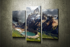 Модульная картина Горы. Лос-гласиарес
