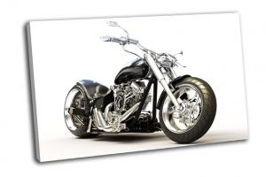 Мотоцикл на белом фоне