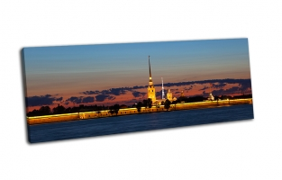 Панорама на Петропавловскую крепость