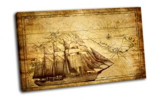 Парусник и карта