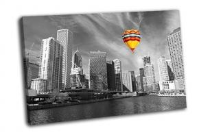 Пейзаж Чикаго в черно-белом