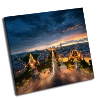 Потрясающий вид ночного Парижа