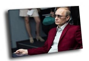 Путин в малиновом пиджаке